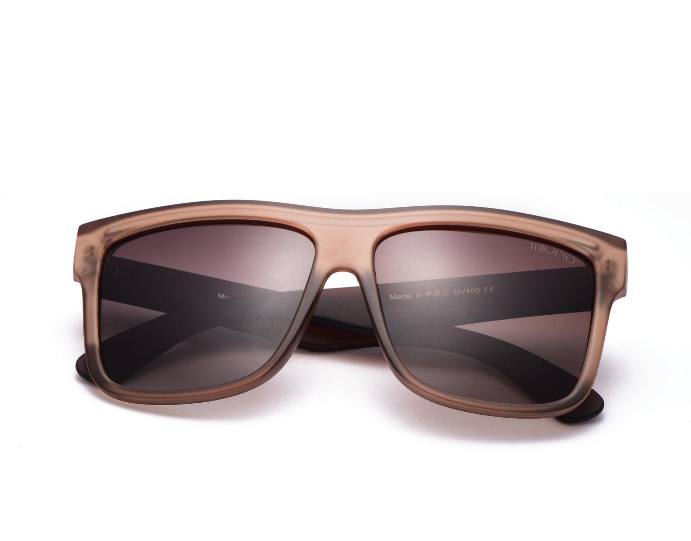 miuno sonnenbrille polarisiert unisex wayfarer matt polarized geschenkbox brillentuch 1018. Black Bedroom Furniture Sets. Home Design Ideas