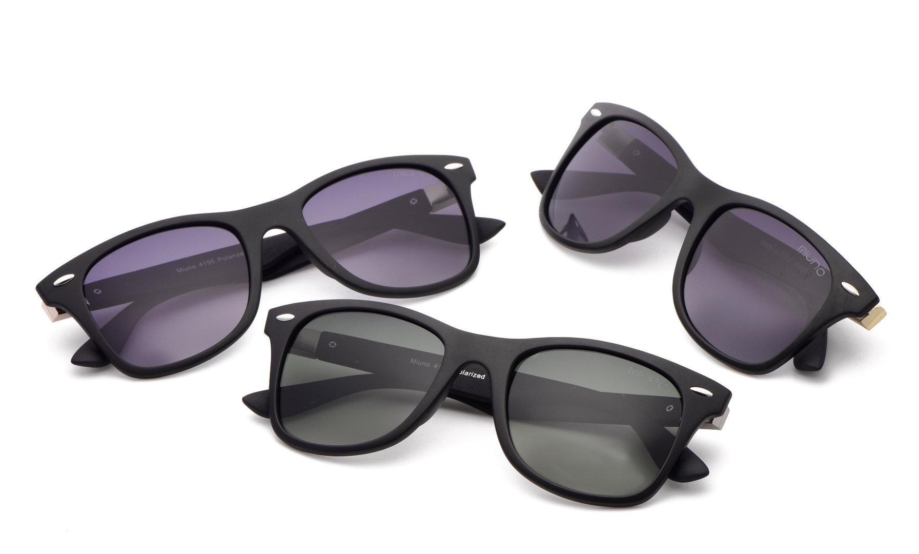 miuno sonnenbrille polarisiert wayfarer polarized unisex herren damen box brillentuch 4195. Black Bedroom Furniture Sets. Home Design Ideas
