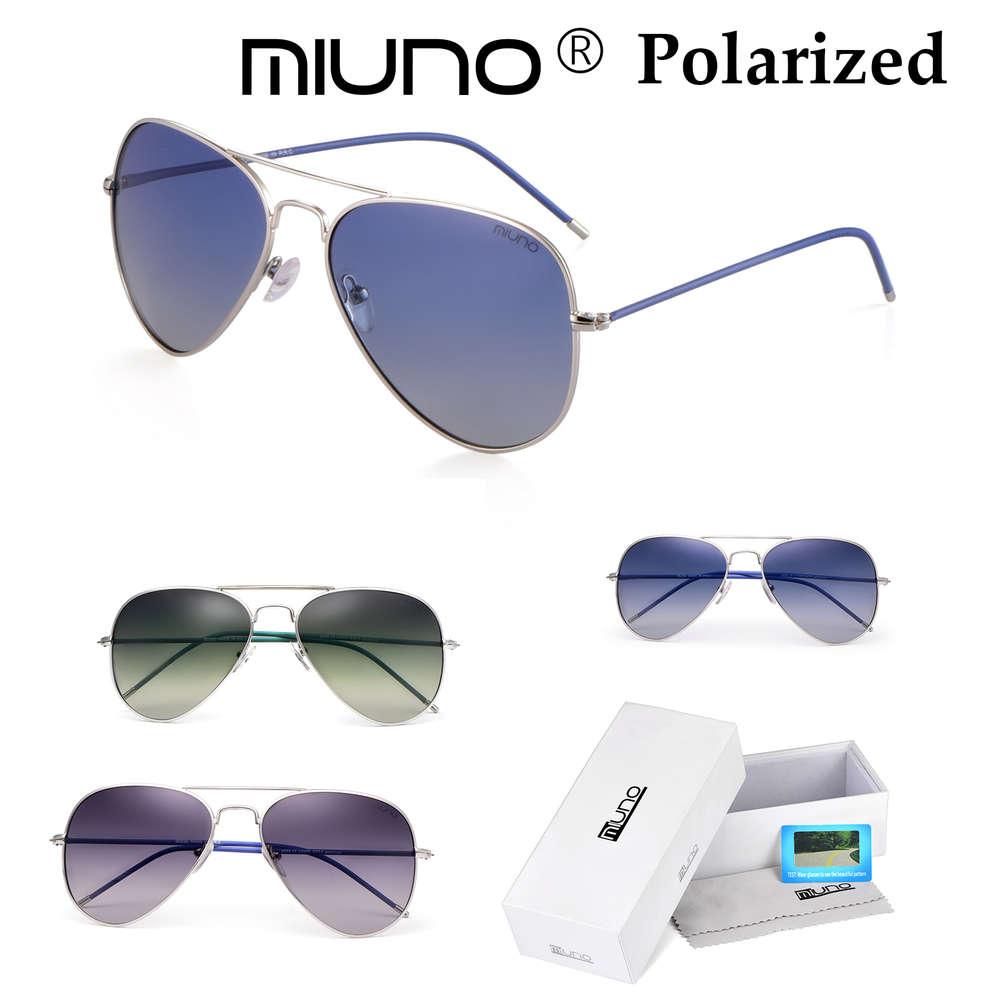 Miuno® Sonnenbrille Polarisiert Polarized Aviator Piloten Brille ...